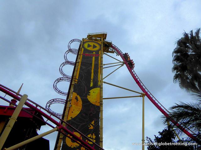 Navigating Universal Studios Orlando with Autism coaster