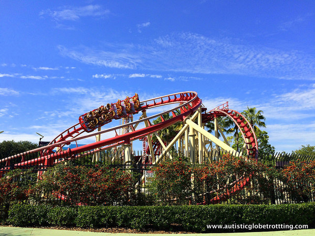 Navigating Universal Studios Orlando with Autism roller