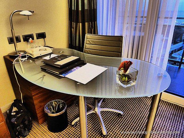 Luxury Family Stay at the Hilton Tel Aviv desk