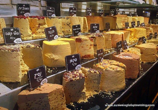 Exploring Tel Aviv's New Food Market Sarona with Family cheese