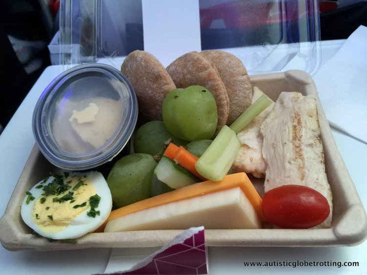 Flying Virgin America with Autism Food
