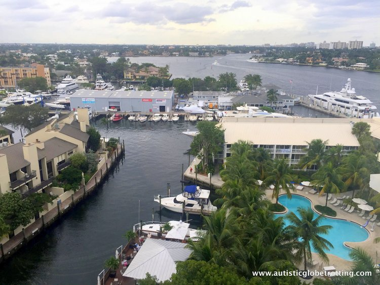 Staying with Family at Hilton Fort Lauderdale Marina ocean