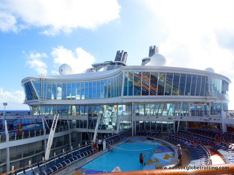 Cruising Oasis of the Seas with Autism pool