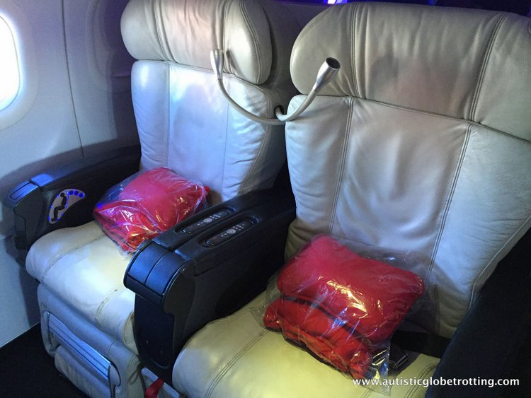 Flying Virgin America with Autism Main Cabin