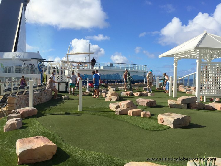 Cruising Oasis of the Seas with Autism golf