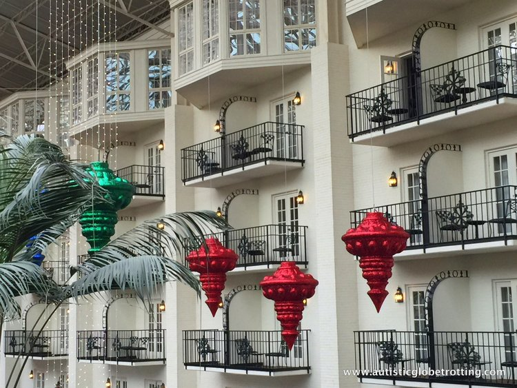 Christmas Stay at the Gaylord Opryland Hotel outside