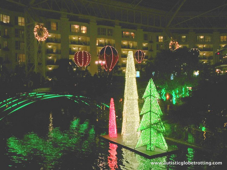 Christmas Stay at the Gaylord Opryland Hotel night
