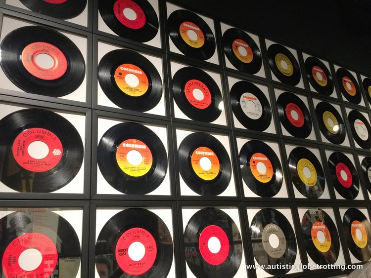 the Johnny Cash Museum records