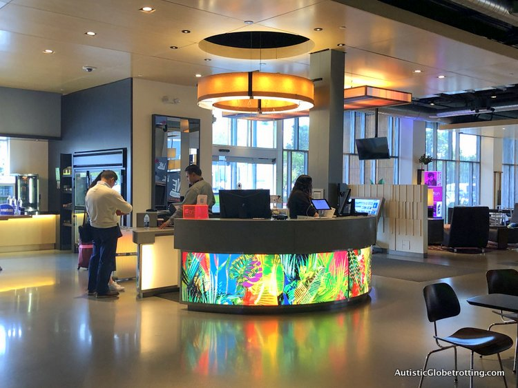 Family Fun Stay at the Aloft San Francisco Airport reception desk