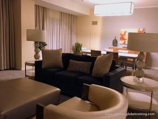 Family Friendly Stay at the Walt Disney World Swan Hotel room