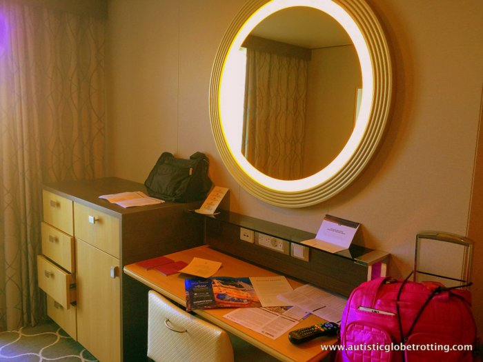 Our Cabin on Harmony of the Seas mirror