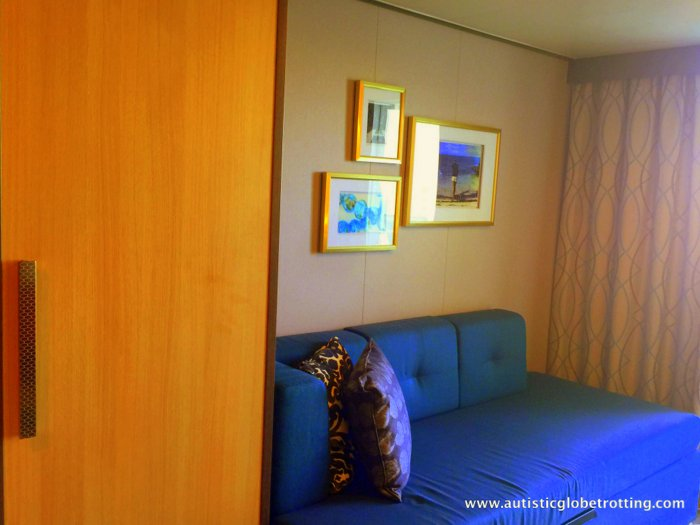 Our Cabin on Harmony of the Seas sofa