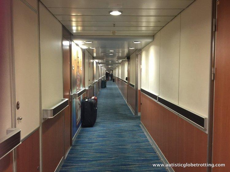 Our Ocean View Cabin Aboard Carnival Imagination corridor