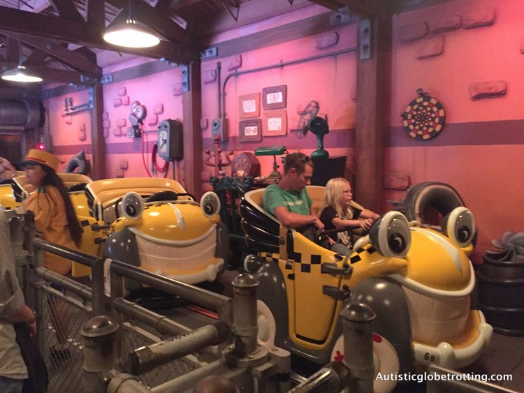 Best Disneyland Spinning Rides for Kids with Autism roger rabbit ride
