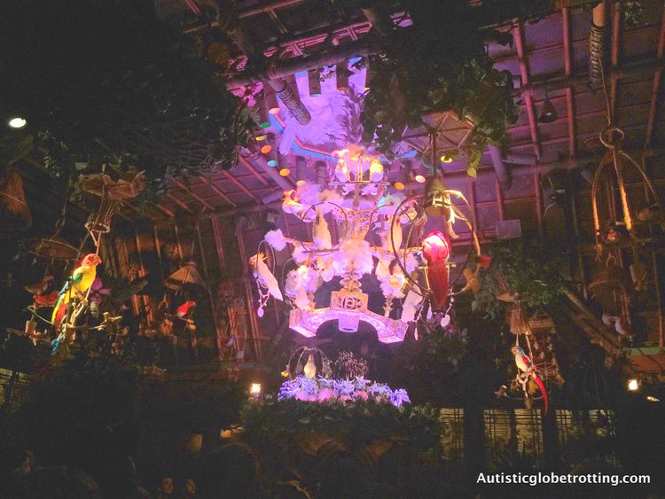 Disneyland's Top Indoor Autism Friendly Rides and Attractions tiki birds