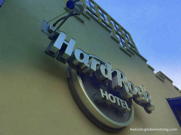 Luxury Stay at the Hard Rock Hotel San Diego sign