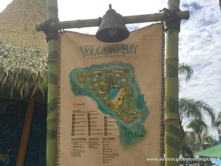 Universal Studios Volcano Bay™ Tips map