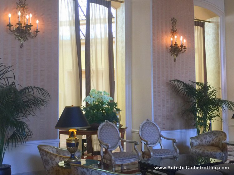 Family Luxury Stay at the Intercontinental Mark Hopkins San Francisco eleborate entry