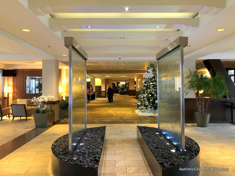 Our Family Friendly stay at the Westin San Francisco Airport Hotel water cascade