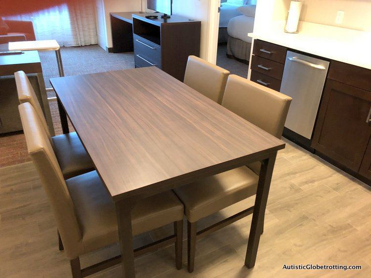 Residence Inn San Jose Cupertino caters to Autism Families dining area