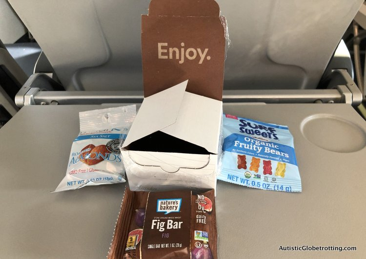 Alaska Airlines Exceeds Expectations Despite a 2 Hour Delay free snack box on alaska air