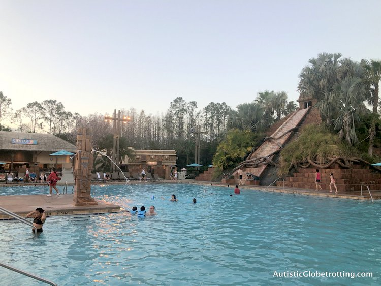 Disney Coronado Springs Resort Tips for Families mayan pyramid slide