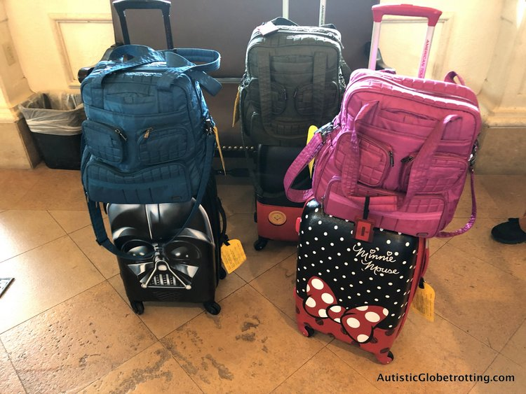 disney deluxe family oceanviewstateroom with verandah our disney luggage