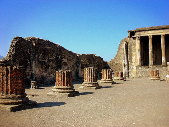 Visiting Pompeii with Autism pillar