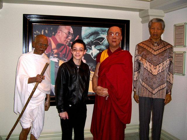 Visiting Amsterdam's Madame Tussaud Wax Museum dalai lama