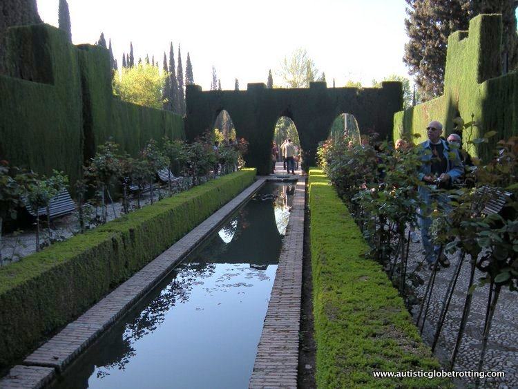 Visiting the Alhambra Palace with Family water
