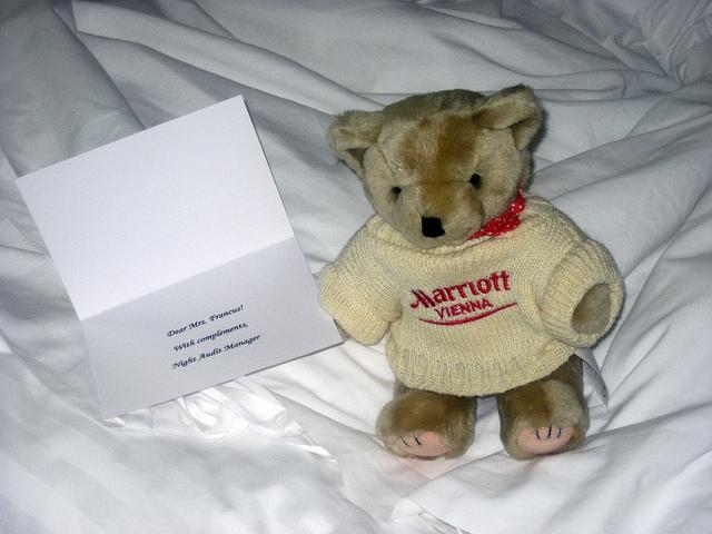 Family Friendly Stay at J W Marriott Vienna Austria bear