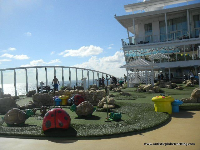 Which Cruise to Book when Traveling with Autism mini golf