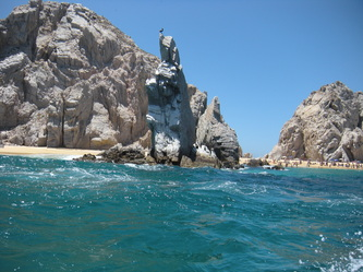 Visiting Cabo San Lucas' El Arco With Autistic Kids large rock