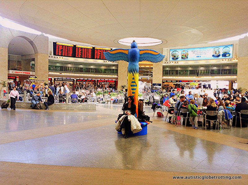 Israel's Ben Gurion Airport with Kids decor