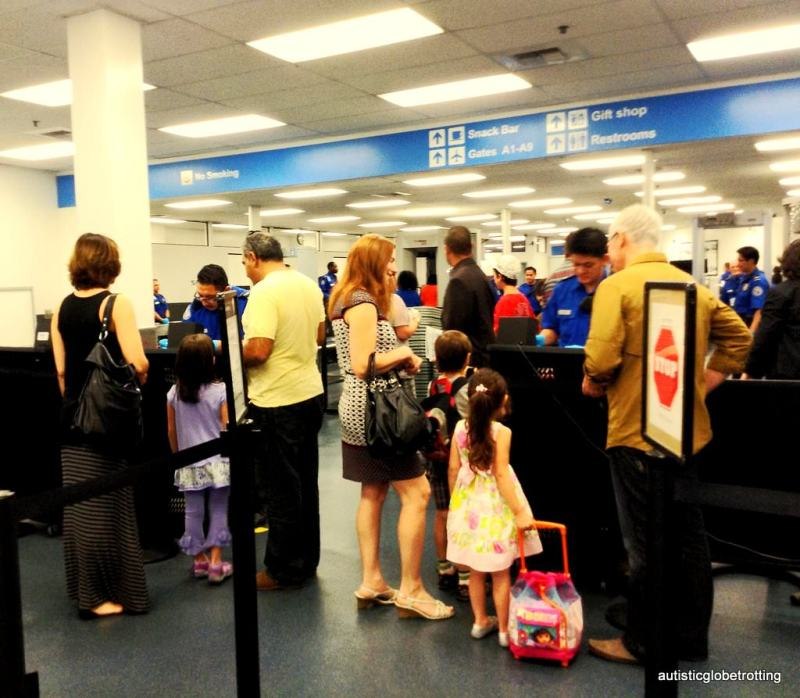 Airport security tips for families and children with autism lines