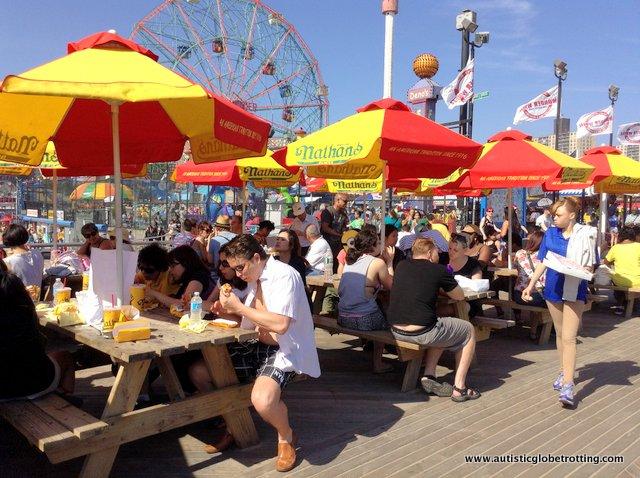 Family Fun on New York's Coney Island HOTDOGS
