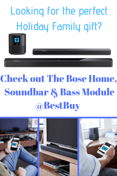 The Bose Home, Soundbar and Bass Module @BestBuy is the Perfect Family Gift pin