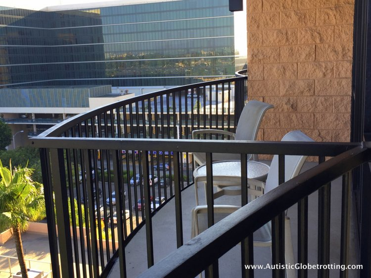 The Autism Friendly Sheraton Park at Anaheim Resort balcony