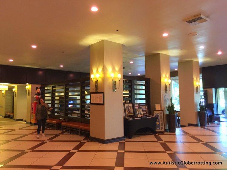 The Autism Friendly Sheraton Park at Anaheim Resort pillars
