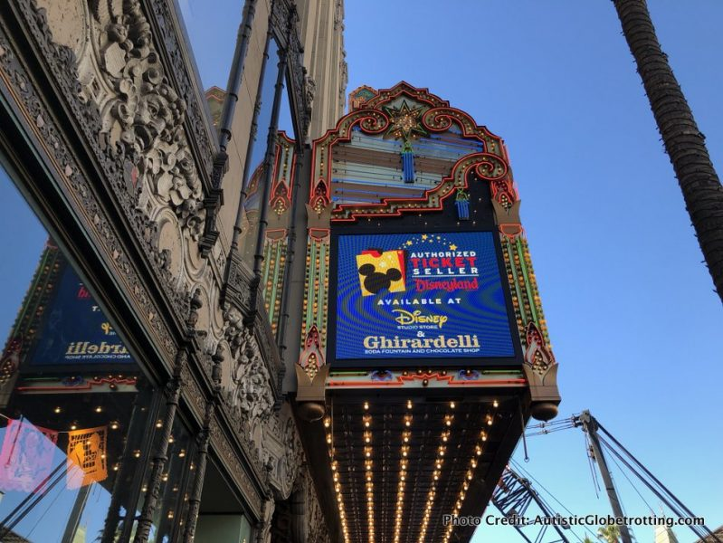 Visiting Hollywood's iconic El Capitan Theatre with Kids sign