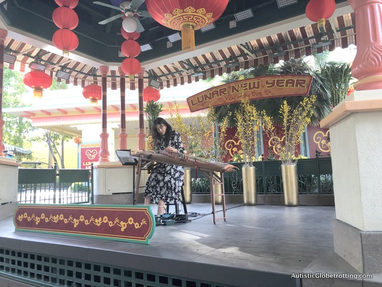 Attending Disneyland's Lunar Year Celebrations with Autism luna lee from korea playing at disneyland