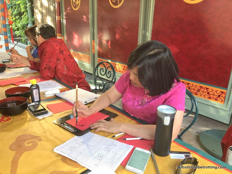 Attending Disneyland's Lunar Year Celebrations with Autism agnes eng at work