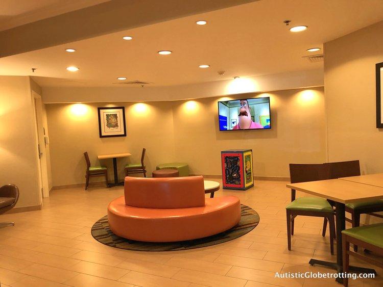 Family Friendly Fairfield Inn Anaheim lobby seating