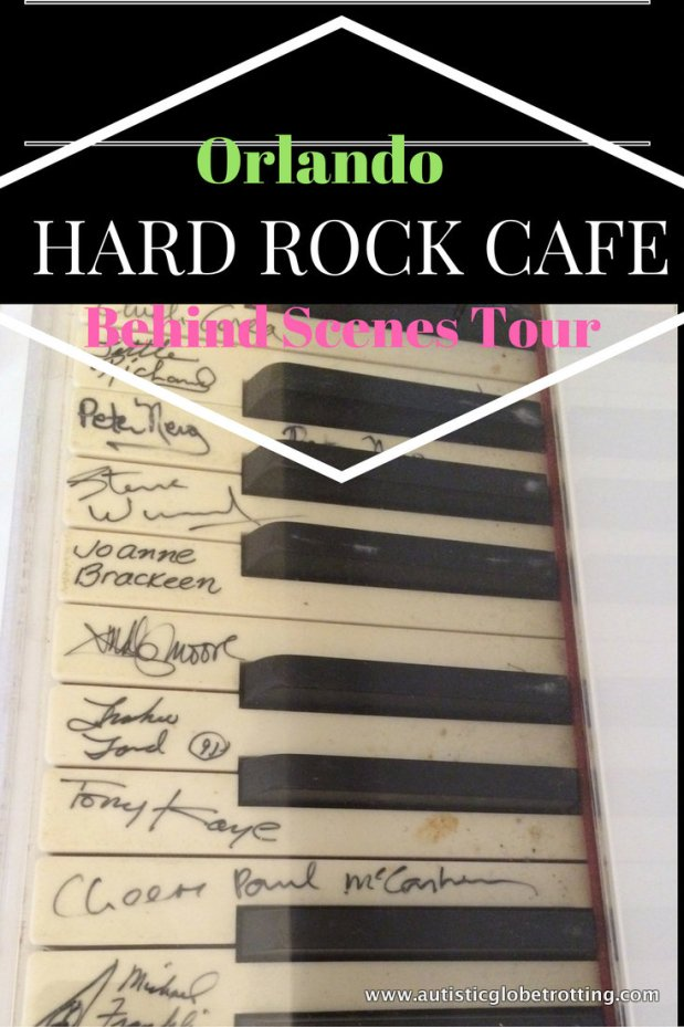 Orlando Hard Rock Cafe behind the scenes tour pin