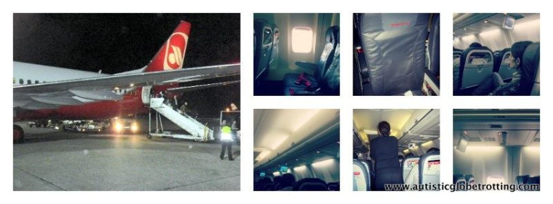 Budget Travel-Flying Air Berlin aircraft