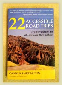 """Review of Candy Harrington's """"22 Accessible Road Trips"""" book cover"""