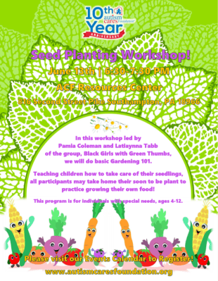 Seed Planting Workshop @ Autism Cares Foundation Resources Center | Southampton | Pennsylvania | United States