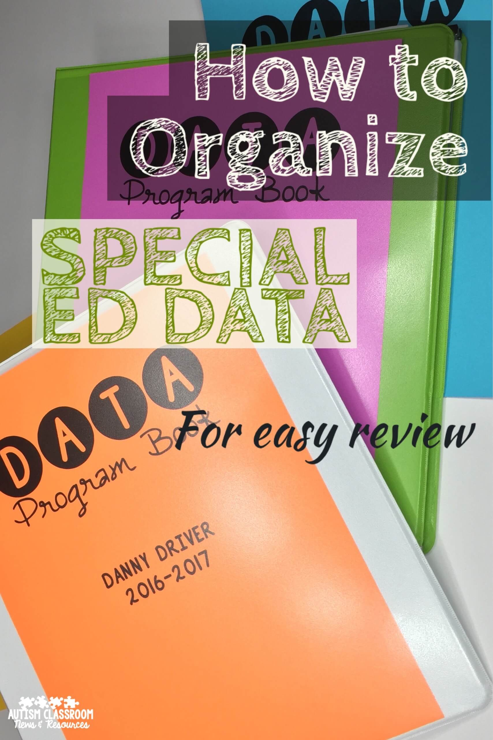 How To Organize Special Ed Data For Easy Review