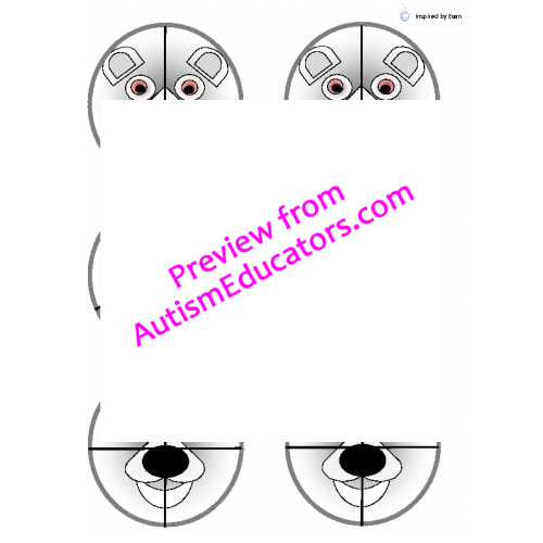 Arctic Animals Fraction Circles