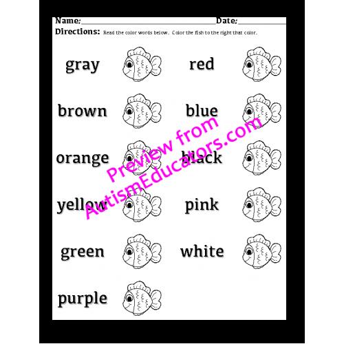 June Worksheet Packet (Fish Theme)
